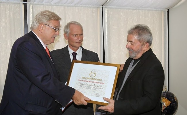 Ex-PR Lula HOMENAGEM CAPA